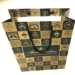 Classical Brooks Brothers Paper Bag 軍藍金色經典款紙袋