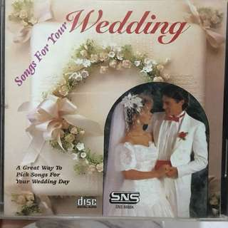 Wedding songs cd