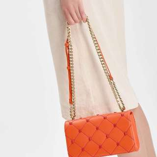 CNK Embellished Quilted Clutch