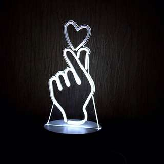 KPOP Finger Heart Magic Night Lamp