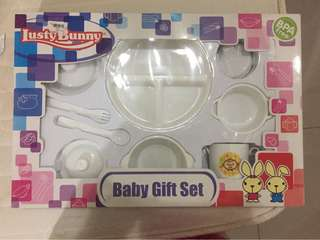 Lusty bunny baby gift set 9in1 (LB 1874 - White)