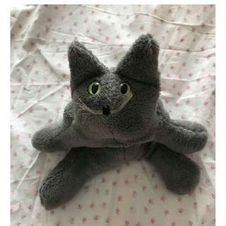 Gray Cat Stuffed Toy