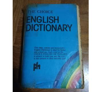 The choice English dictionary