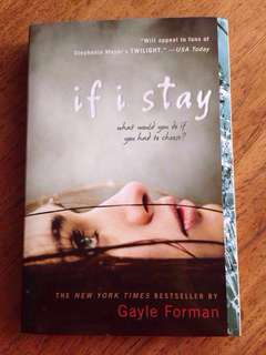 If I Stay by Gayle Forman - paperback