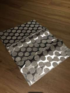 🚚 Sliver With Glitter Poka dots Wrapping Paper