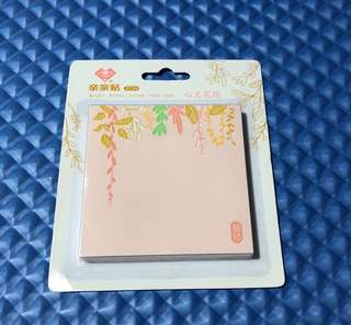Flowery designed Stickt note Paper