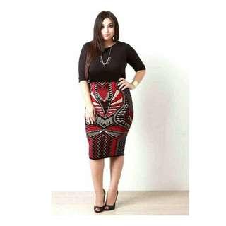 Plus Size Combi Dress