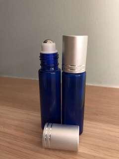 10ml Blue Glass Roller Bottles