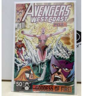 🚚 Avengers West Coast Vol. 2 # 71 - 1st appearances of Kain and Pele of the Pacific Overlords