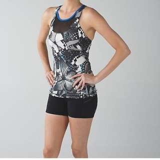 Lululemon Mesh With Me Tank Butterfly Print Sz 6/S