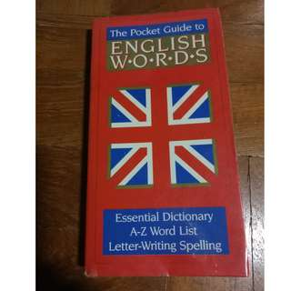The pocket guide to English words dictionary