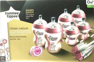 Tommee Tippee Closer to Nature Decorated Starter Set -Girl.