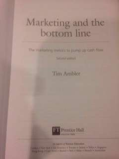 Marketing and the Bottom Line by Tim Ambler