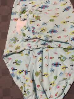 Baby Swaddle (Light blue trees)