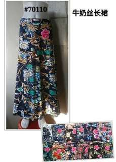 FLORAL LONG SKIRT 70110 NC