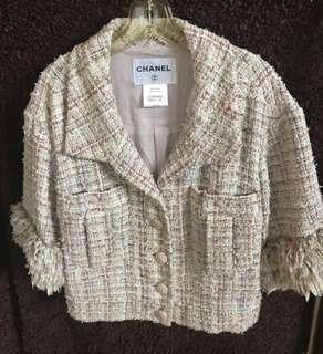 Chanel jacket 5分袖外套