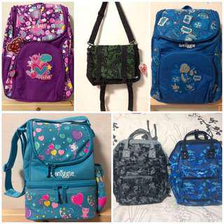 Smiggle Bags and Lunchboxes