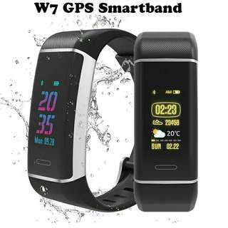 W7 GPS Smart Band Color Screen USB Smart Charging