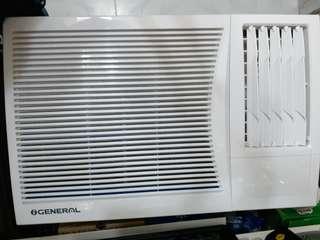 珍寶窗口式冷氣機 (1匹半, 9成新)