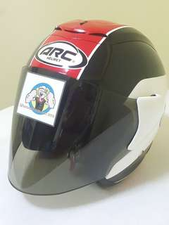 0307** ARC AR1 TIARA RED Helmet For Sale 😁😁Thanks To All My Buyer Support 🐇🐇 Yamaha, Honda, Suzuki