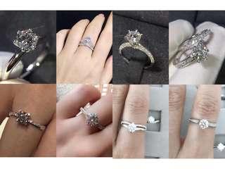 卡裝鑽石戒指 結婚對戒