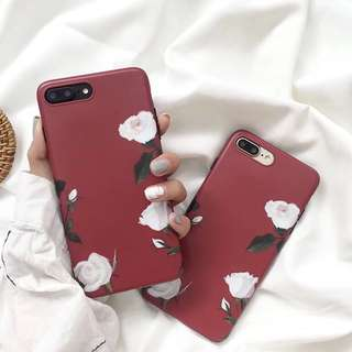 iPhone case 手機軟殼 復古花朵 vintage