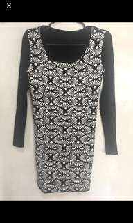 SALE! Sexy Black&White Dress