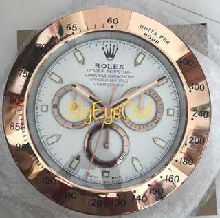 Rolex Wall Clock - Daytona Rose Gold (White-faced)