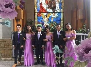 Bridesmaid Gown Lavander