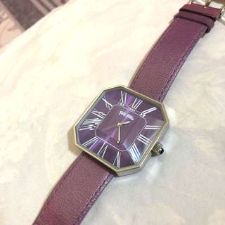 Folli Follie purple leather strap watch