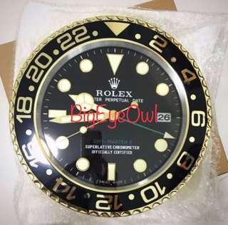 Rolex Wall Clock - GMTIl Gold