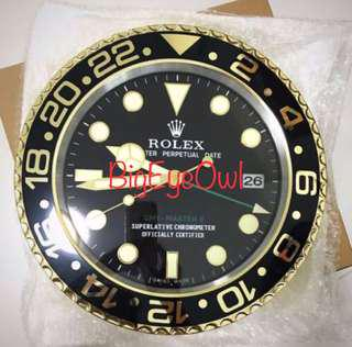 Rolex Wall Clock - GMTIl Gold