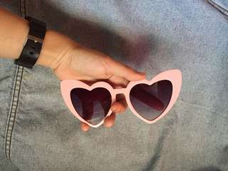 Heart Shaped Pink Sunglasses