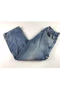 Tommy Hilfiger jeans flag tag 90's 古著 復古 水洗 牛仔褲 寬褲 美式