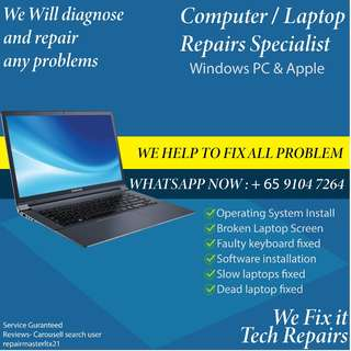 Computer/Laptop/PC IT & Repair Support For Window / Mac