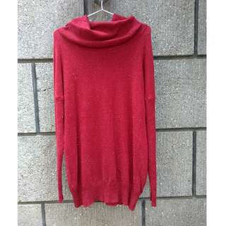 BNWT Red Turtleneck