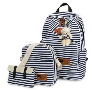 3 In 1 Stripe Bag