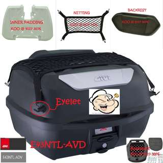 0307--GIVI BOX E43 NTL Mulebox For Sale !!!Brand New (YAMAHA, Honda, SUZUKI, ETC)