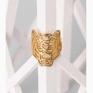 [潮牌大熱] Kenzo 玫瑰金戒指Tiger Ring in Pink Gold