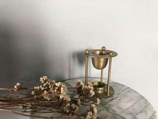 銅製燭台 精油台 兩用