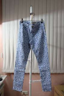 Topshop Floral Denim Jeans
