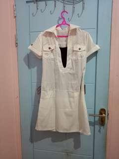 #maudecay Dress kemeja putih