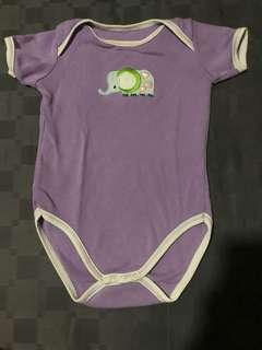 Baby Romper (Purple elephant)