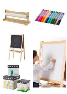 Ikea Mala Easel and Paint/Draw Storage