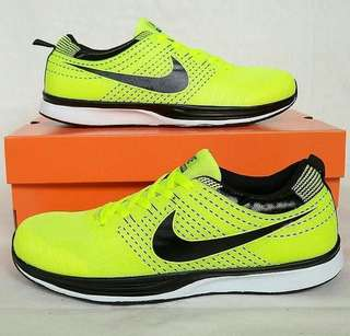 Nike Run Flyknit Lime Black