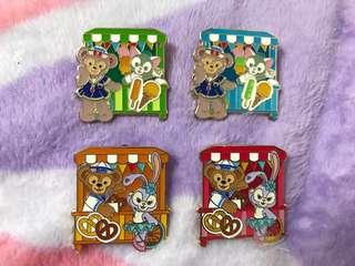 迪士尼duffy shelliemay gelatoni徽章pin trading