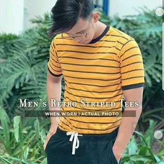 Men's Retro Striped Tees