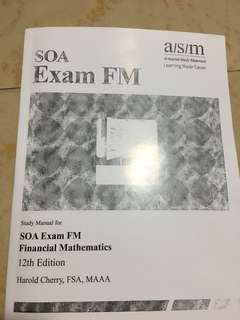 SOA Exam FM, 12th edition, actuarial study materials (brand new)