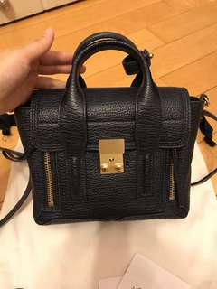 3.1 Phillip Lim Pashli Mini Satchel (#Ink) 深藍拼金