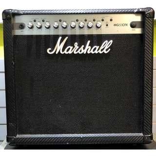 ★二手音箱★Marshall MG50CFX電吉他音箱~功能正常 限自取(永和工程部